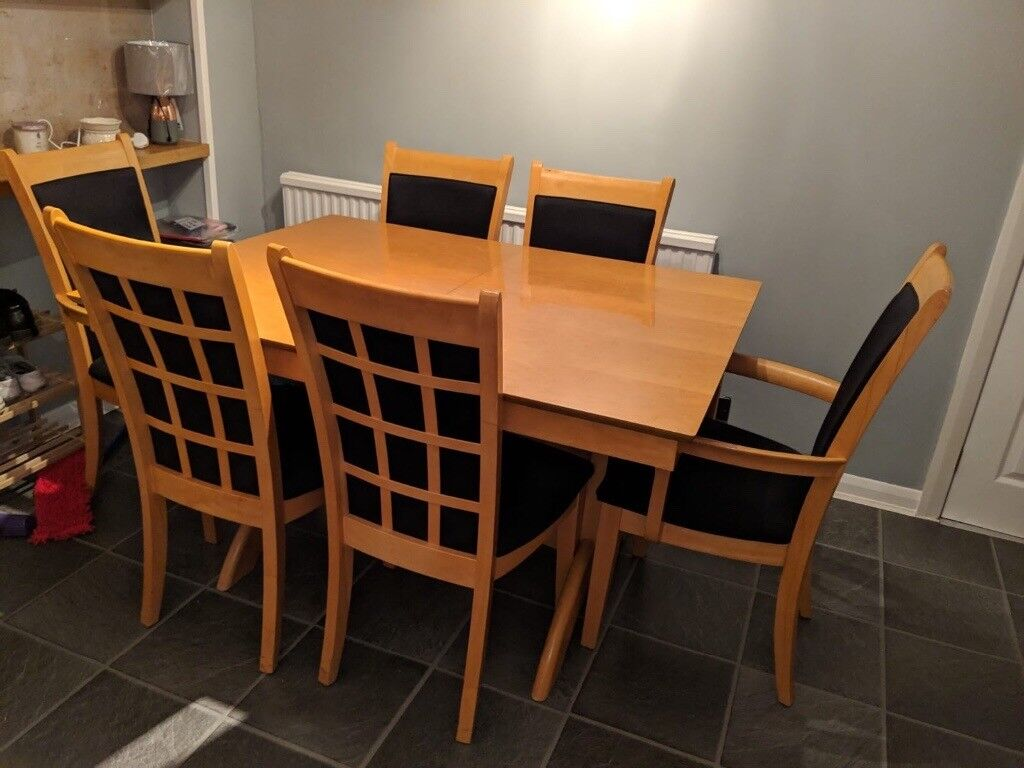 Extendable Dining Table And 6 Chairs Hamilton
