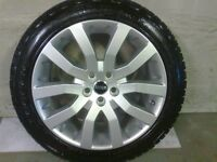 ALLOYS X 4 OF 20 INCH GENUINE RANGEROVER OR DISCOVERY SUPERCHARGED FULLY POWDERCOATED IN SILVER NICE