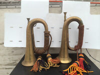 2 BUGGLES AVAILABLE BRASS