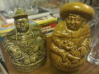 Unusual tea & coffee caddies by Sadler, made in England.