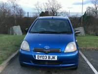 TOYOTA YARIS Y3 1.0L 2003 ALLOW WHEELS 10SERVICE'S HPI CLEAR EXCELLENT CONDITION