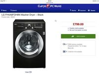 *WOW* Brand NEW TOP OF THE RANGE LG Washer Dryer in GLOSS BLACK