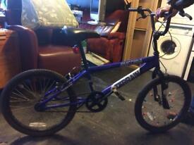 Blue BMX bike good condition