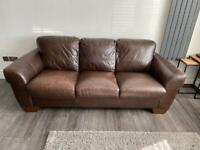 SCS Messina 2 and 3 seater leather sofas