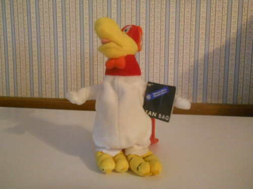 "Warner Brothers Studio Store Looney Tunes FOGHORN LEGHORN 8""plush bean bag w TAG"