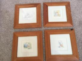4 individual Humphrey pictures in frames for sale in Widley