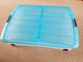 Lakeland Underbed Plastic Storage boxes on Wheels 50L