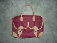 3 piece Burgundy Travel Bag Set