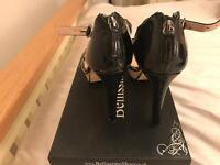 Size 7 Staccato Black parent high heeled Sandals size 7