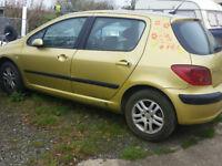 Peugeot 307 2.0 hdi 5 door hatch for spares or repair