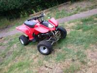 Kids 90cc quad bike auto rev and go restrictable speed