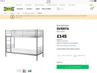Bunk bed frame from ikea. White in colour and in good condition.