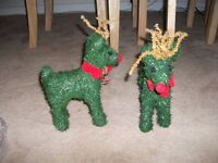 2 grass reindeers good condition