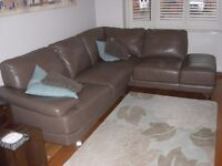 Italian Leather Corner Sofa and Swivel Chair for sale £600 ono.