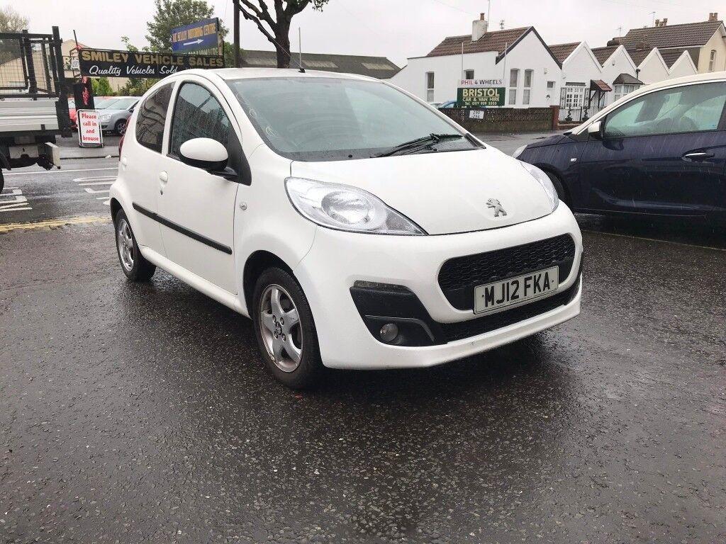 peugeot 107 white 1 litre petrol manual 5 door hatchback 2012
