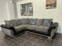 Luxury SCS corner sofa in black and grey