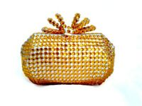 Gold Clutch Bag Customised with Gems!