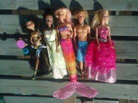 Barbie + Barbie type Dolls (bundle of 5)