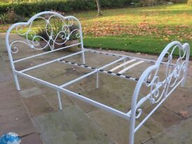 Queen size double bed base - metal with all original fixtures and fittings