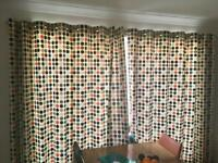 Curtains and pole for patio door