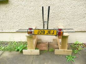 Pendle Bike Rack tow bar fitting with number plate and lights