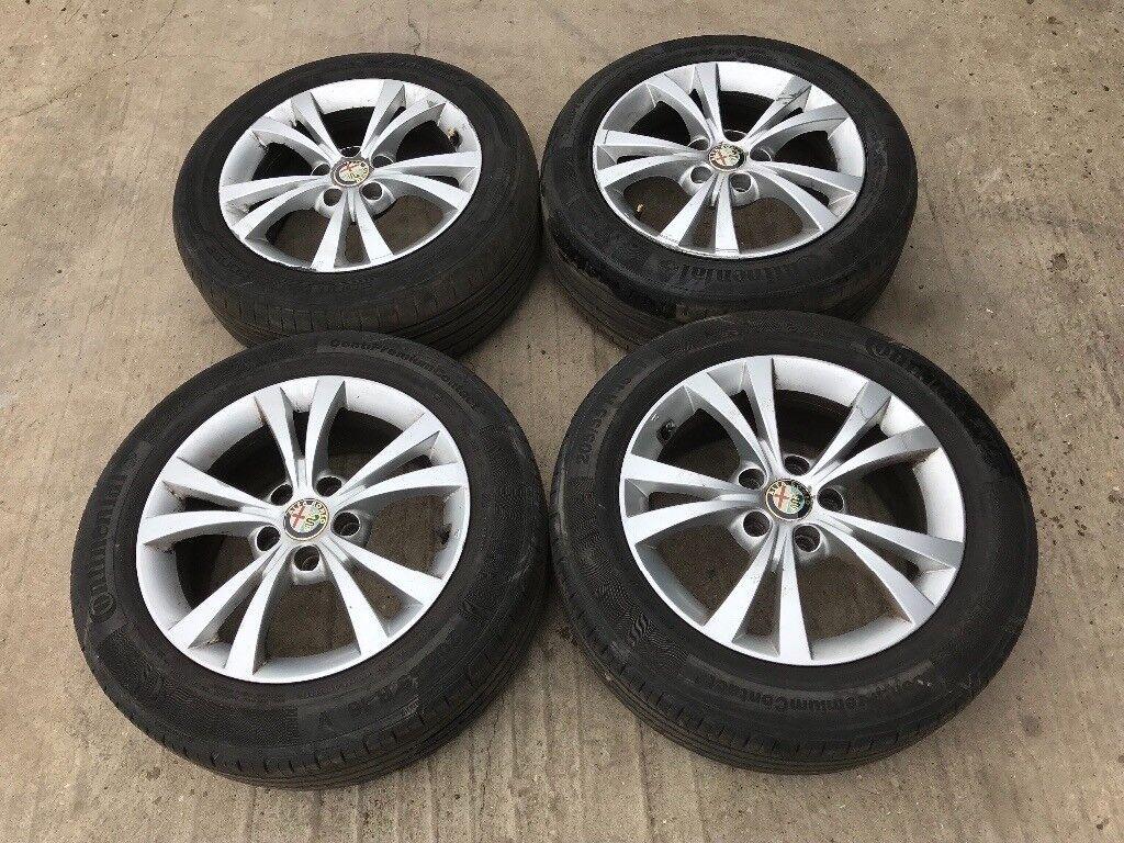 Alfa Romeo Giulietta 147 156 Gt 16 Alloy Wheels Good Tyres Rims