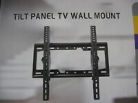 TV WALL BRACKET FITS FLAT / CURVED TV'S TILT UP /DOWN (26 to 65 inch)