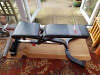 Gym equipment - Barbell, EZ bar, Bench, Barbell stands & weights.