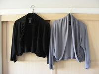 Two Nina Leonard eveningwear? tops. Shoulder covering? Large