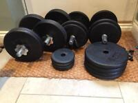 Gym dumbbell weights