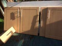 Kitchen doors. 9 Beech doors plus a draw.
