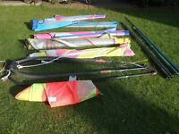 WINDSURFING ACCESSORIES (Board, Booms, Masts & Sails) - various prices