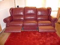RUSSIT LEATHER 3 - SEATER AND 2 - SEATER MANUAL RECLINER SOFA'S