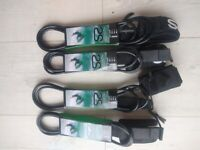 (New) Surfboard Leashes 6ft/7ft/8ft/9ft