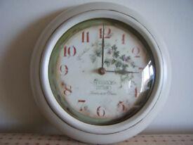 Roger Lascelles (Clocks of London) French Vineyard Tin Kitchen Wall Clock - 25.5cm
