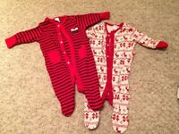 NEXT Christmas Baby Grows Unisex 0-3 months.