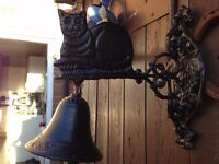 cast iron cat bell