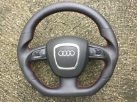 AUDI A3 S3 RS3 A4 S4 RS4 A5 S5 RS5 A6 S6 RS6 A8 Q7 NEW CUSTOM MADE STEERING WHEELS