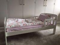 John Lewis Boris Toddler Bed, White