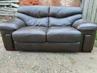 2 seater leather sofa + Free Delivery