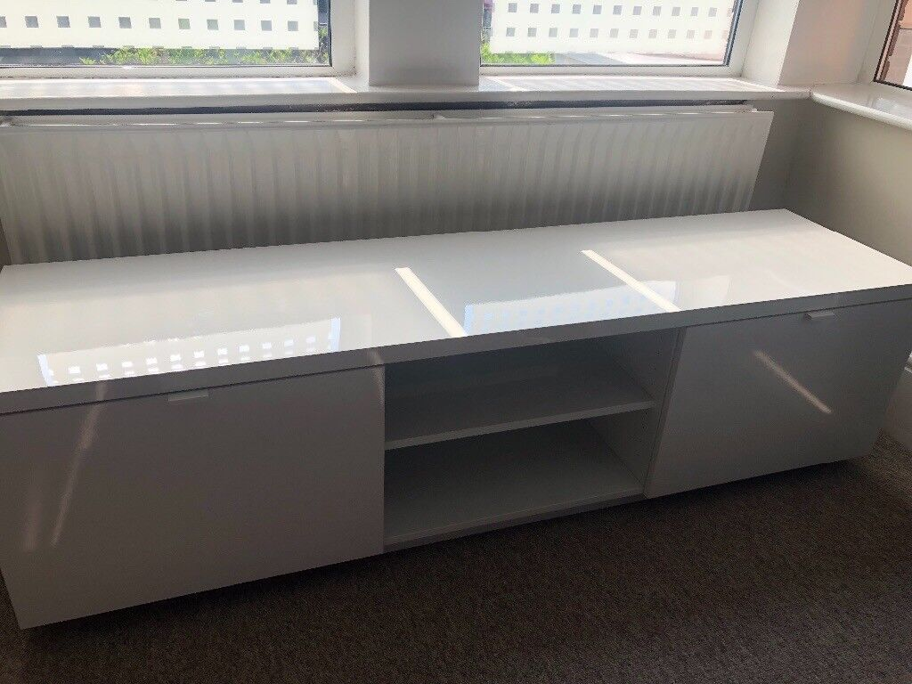 High gloss white tv bench ikea byÅs available at ikea £95 in