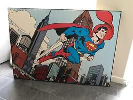 Superman wall art - solid wood finish