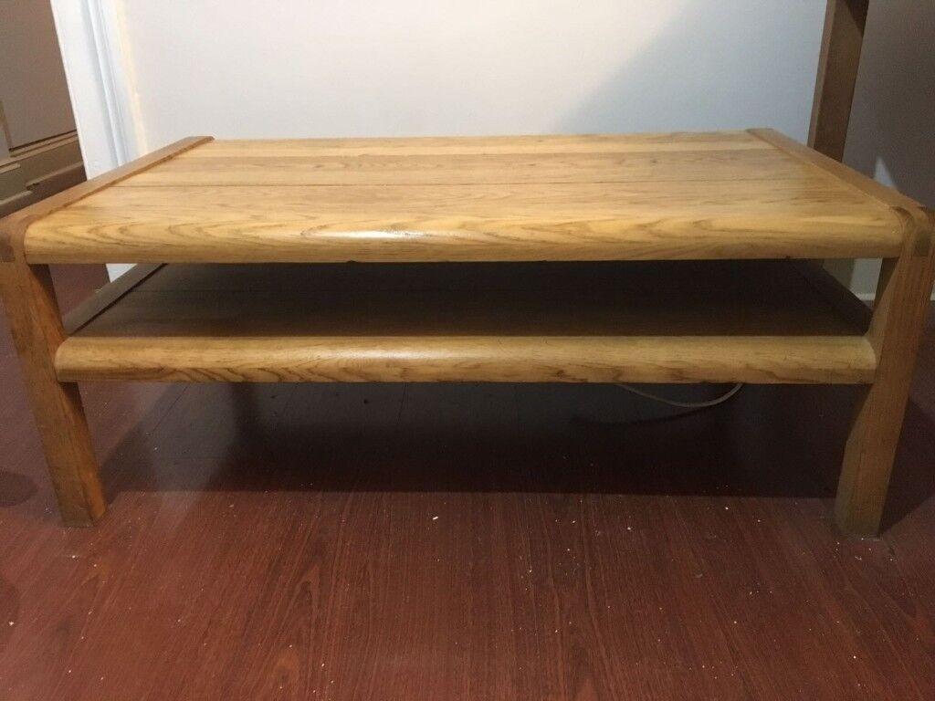 Lower Habitat Radius Solid Oak Coffee Table Designed By Simon Pengelly