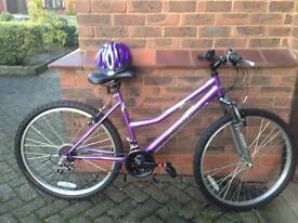 Ladies Purple Bike with helmet! Now sold