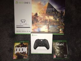 Xbox One S 500GB Brand New with 3 Games & Controller