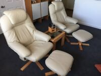SWIVEL & RECLINE CHAIRS WITH FOOTSTOOL