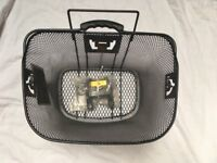Bicycle Basket brand new with tags from Halfords with bracket and spare basket without bracket