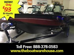 2017 Lowe Boats FS 1610 Merc 115HP Trailer Fish Finder Stereo