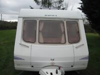 swift charisma 555 4 berth 2004 with fitted double bed and full awning