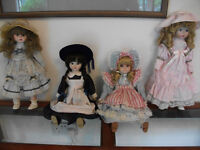 4 Alberon Porcelain Dolls NEW & BOXED
